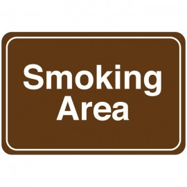 Smoking Area Facility Sign