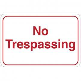 No Trespassing Facility Sign