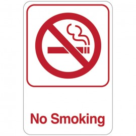 No Smoking Facility Sign