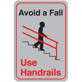 Avoid a Fall (Use Handrails) Facility Sign