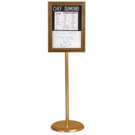 Chrome Base/ Wood Frame Pedestal Easy Tack Board
