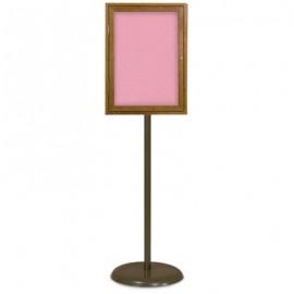 Bronze Base/ Wood Frame Pedestal Easy Tack Board