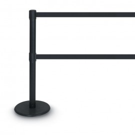 Black Double Tape Posts- 1300 Series 7'