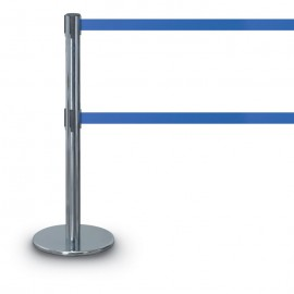 Chrome Double Tape Posts- 1300 Series 12'