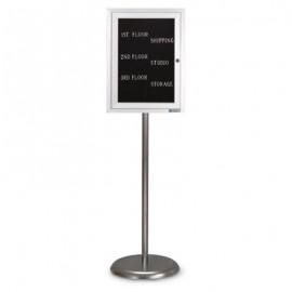 Chrome Base/ Satin Frame Pedestal Easy Tack Board