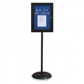 Black Base/ Black Frame Pedestal Easy Tack Board