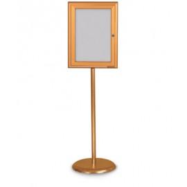 Gold Base/ Gold Frame Pedestal Easy Tack Board