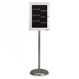 Chrome Base/ Satin Frame Pedestal Letterboard