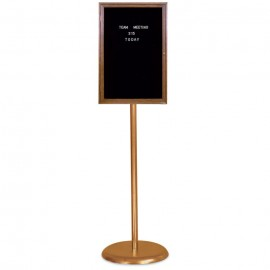 Gold Base/ Wood Frame Pedestal Letterboard
