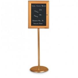 Bronze Base/ Bronze Frame Pedestal Letterboard