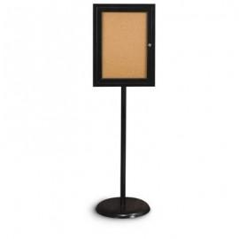 Black Base/ Black Frame Pedestal Corkboard