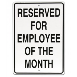 "12 x 18"" Employee of the Month Parking Lot Sign"