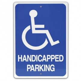 "12 x 18"" Handicap Parking with Symbol Parking Lot Sign"
