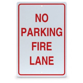 "12 x 18"" No Parking-Fire Lane Parking Lot Sign"