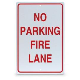 "12 x 18"" No Parking-Fire Lane Parking Lot Sign"