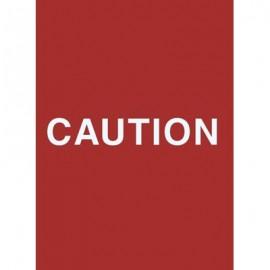 "7 x 11"" Caution Acrylic Sign"