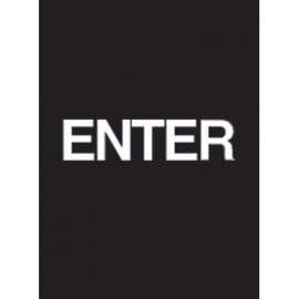 "9 x 12"" Enter Acrylic Sign"