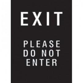 "7 x 11"" Exit Please (Do Not Enter) Acrylic Sign"