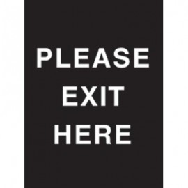"7 x 11"" Please Exit Here Acrylic Sign"