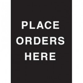 "7 x 11"" Place Orders Here Acrylic Sign"
