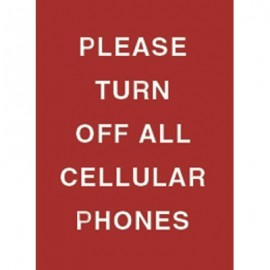 "9 x 12"" Please Turn Off All Cellular Phones Acrylic Sign"