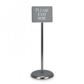 "14 x 11"" Chrome Sign/Poster Pedestal Holder"