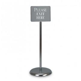 """14 x 11"""" Chrome Sign/Poster Pedestal Holder"""