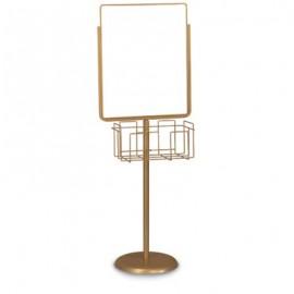 """7 x 11"""" Gold Sign/Poster Pedestal Holder"""