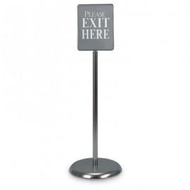 """7 x 11"""" Chrome Sign/Poster Pedestal Holder"""