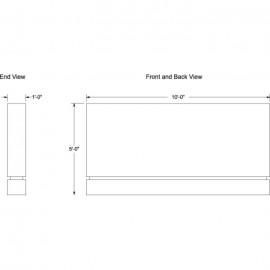 """120 x 60"""" Single Sided Architecture Signage"""