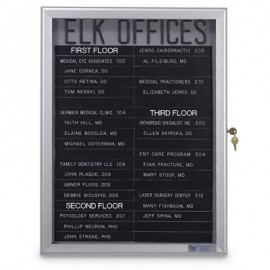 "24 x 36"" Radius Slim Frame Enclosed Easy Tack Boards"