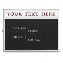 "42 x 32"" Slim Style Radius Framed Enclosed Letterboard"