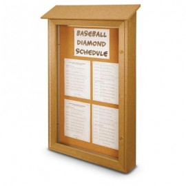"26 x 42"" Single Door Enclosed Cork Message Centers"
