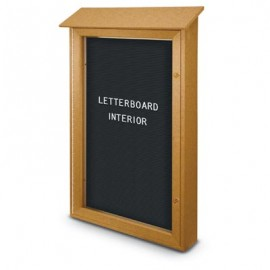 "26 x 42"" Single Door Enclosed Letterboard Message Centers"