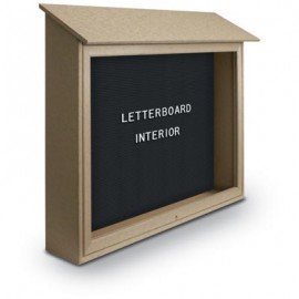 "52 x 40"" Top-Hinge Single Door Enclosed Letterboard Message Center"