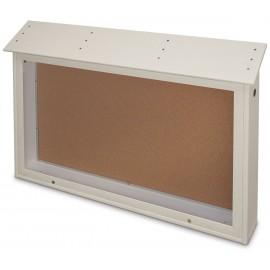 """45 x 36"""" Top-Hinge Single Door Enclosed Cork Message Center"""