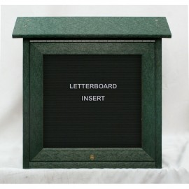 "18 x 18"" Mini Enclosed Letterboard Message Board"