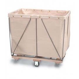 "35 1/2 x 27 1/2"" x 27"" Canvas Liner Basket Truck"