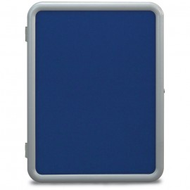 "18 x 24"" ""Image"" Enclosed Corkboards- Cobalt Accent Fabricboard"